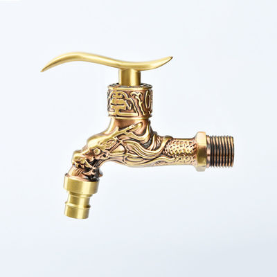 Rose Gold 1/2 Inch 3 Way Brass Bibcock For Bathroom
